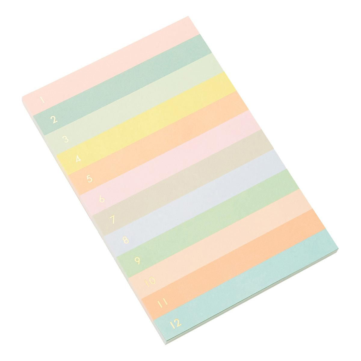 Rifle Paper Co. Numbered Color Block Pastel Note Pad