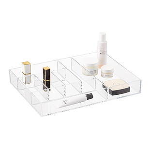 Clear 7-Section Makeup Tray