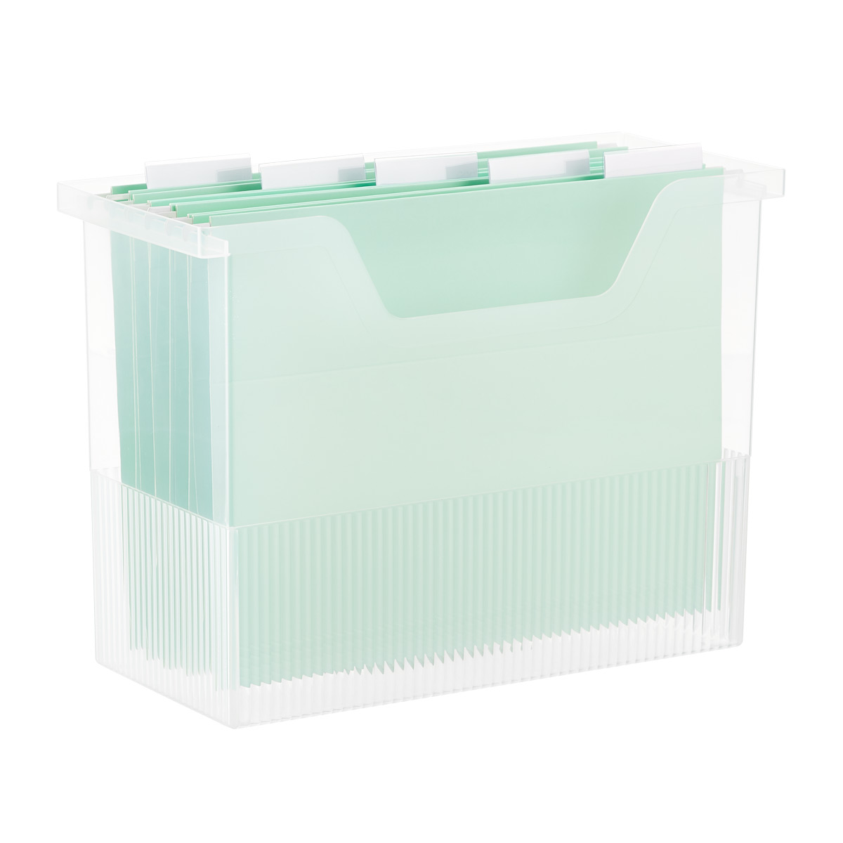 Clear Open-Top File Storage Boxes