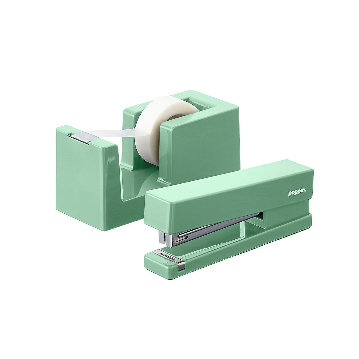 Sage Poppin Tape Dispenser & Stapler