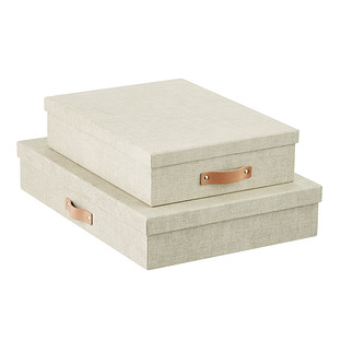 Bigso Linen Marten Office Storage Boxes