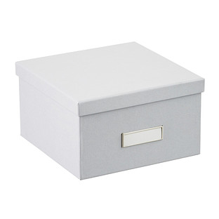 Bigso Light  Grey Stockholm Photo Storage Box