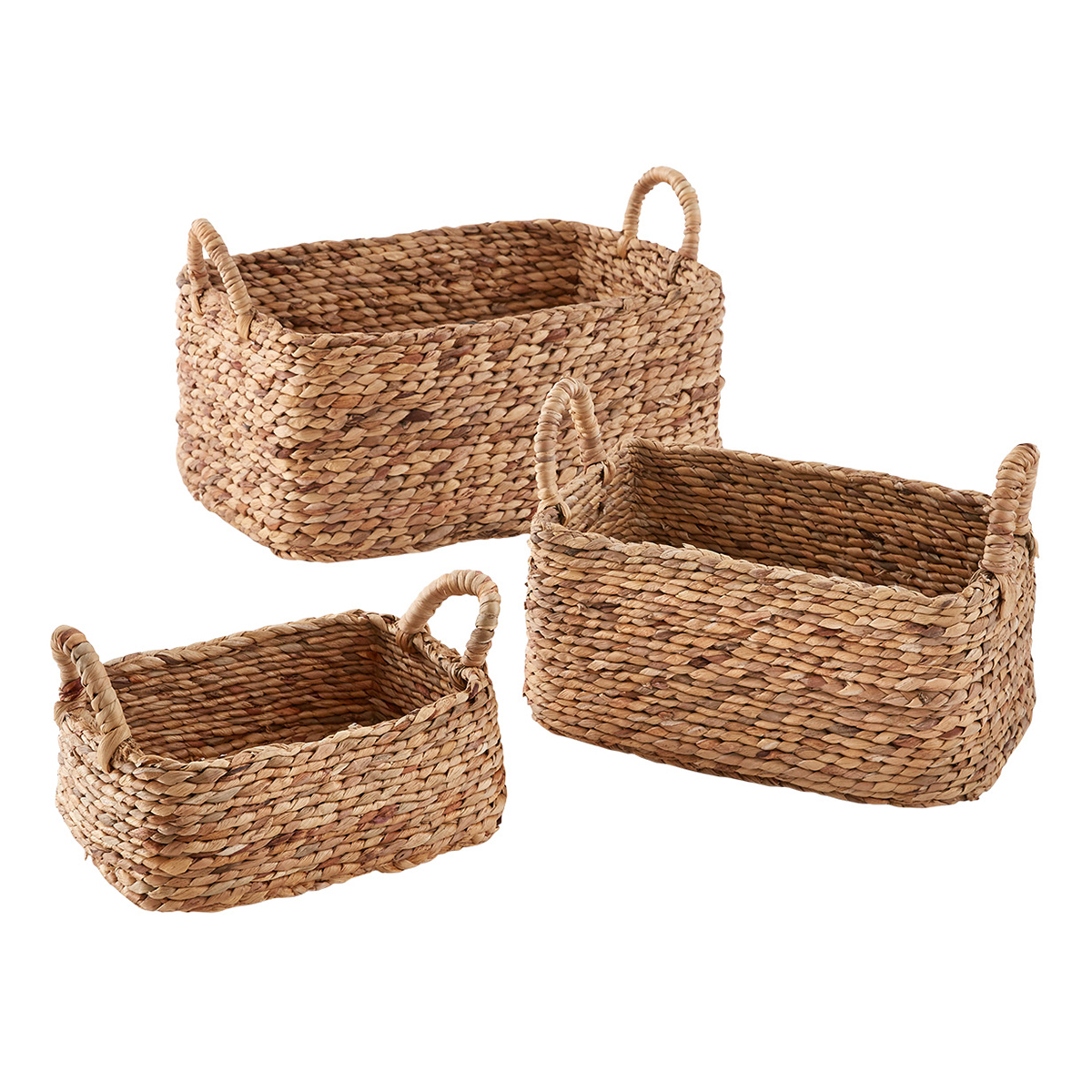 Water Hyacinth Braided Weave Bins