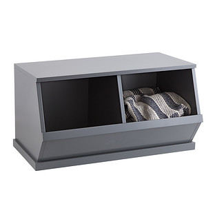 Grey Nantucket Stackable Storage Bin