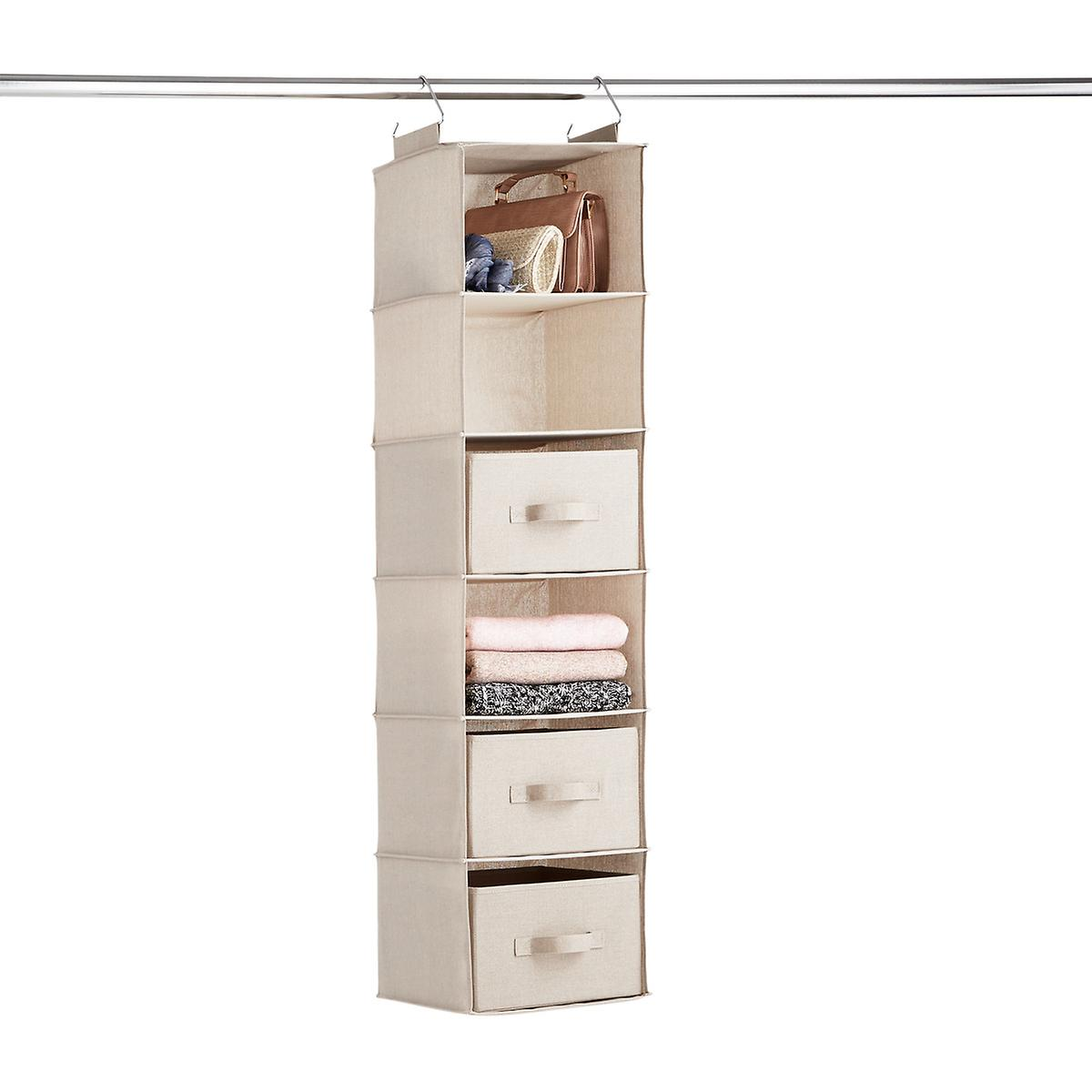 Taupe 6-Compartment Hanging Sweater Organizer