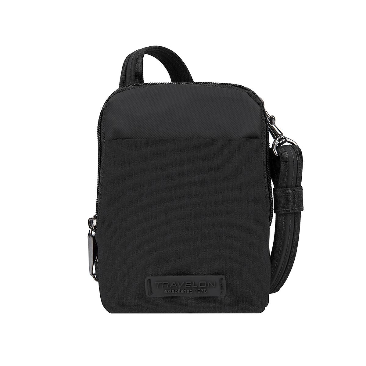 Travelon Black Anti-Theft Stadium Crossbody Bag