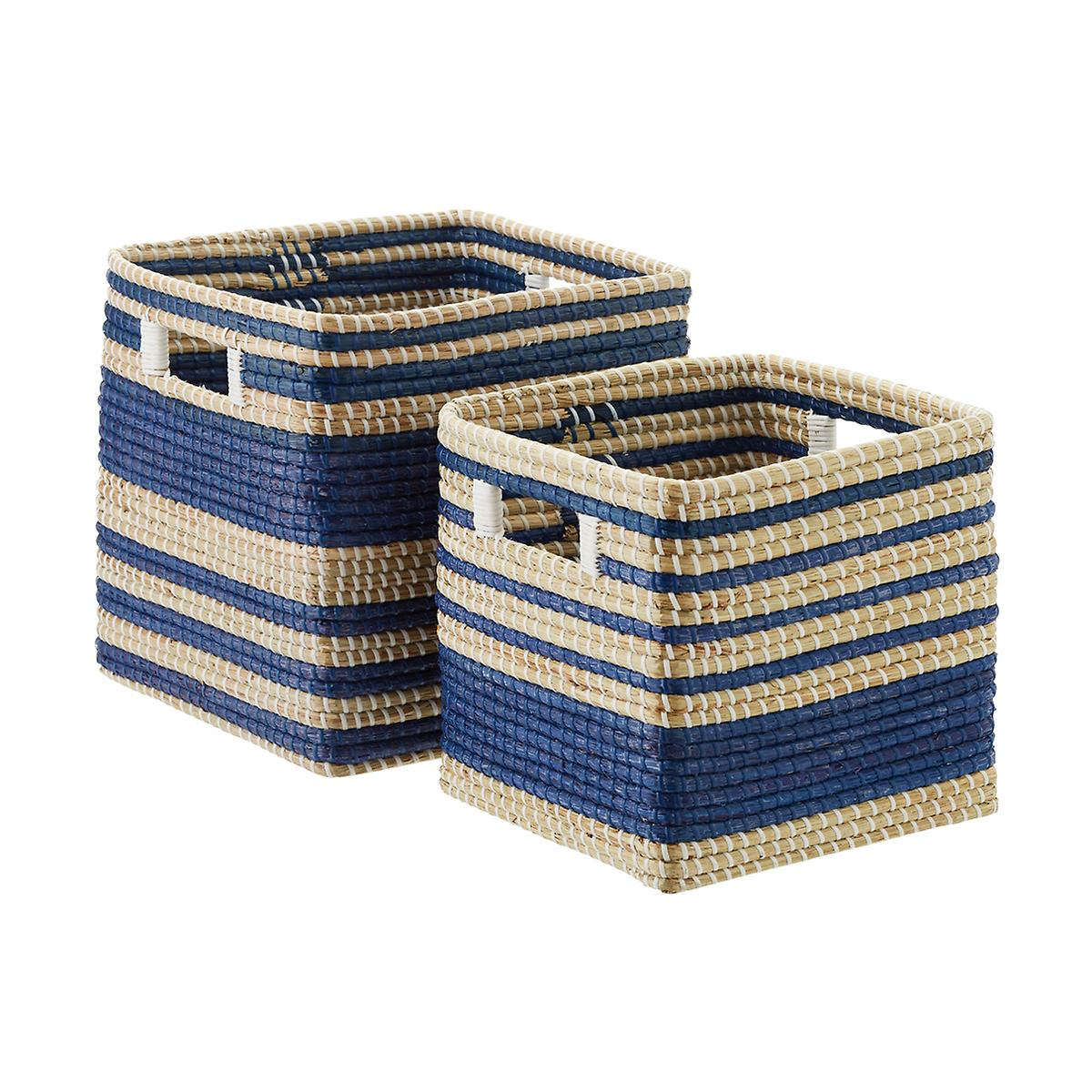 Square Seagrass Bins with Handles