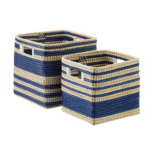 Square Seagrass Bin with Handles