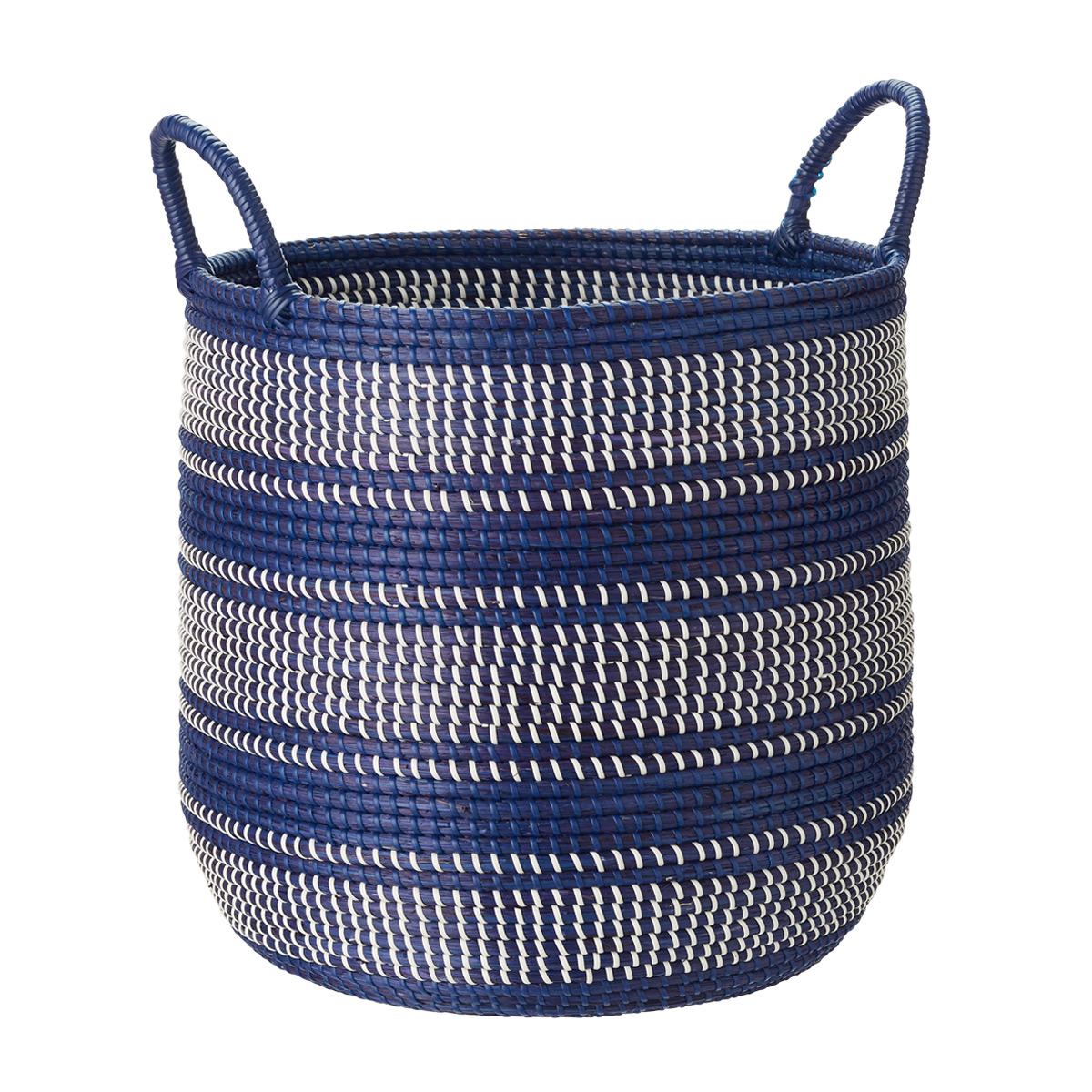 Round Seagrass Bin with Handles