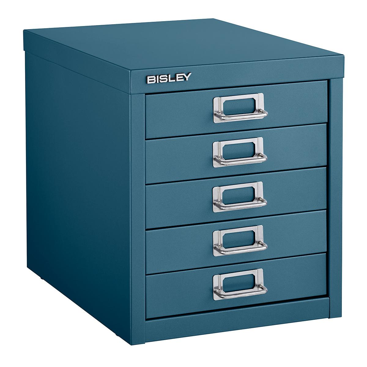 Bisley Dark Teal 5-Drawer Cabinet