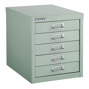Bisley Sage Green 5-Drawer Cabinet