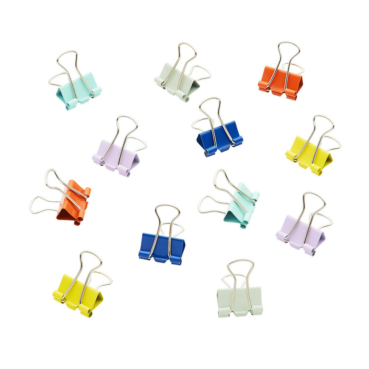 Three by Three 1 2 Assorted Mini Binder Clips