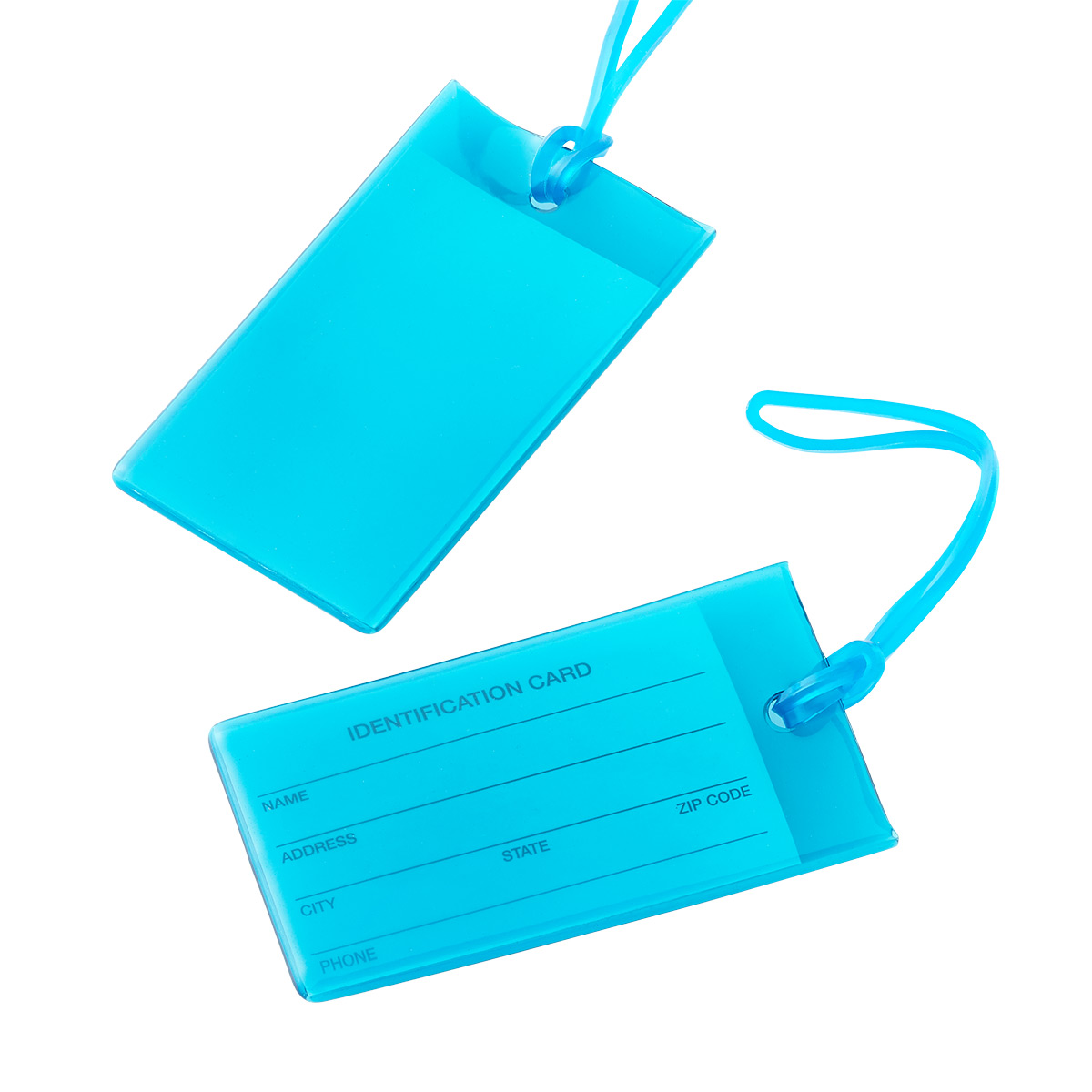 Conair Teal Jelly ID Luggage Tags