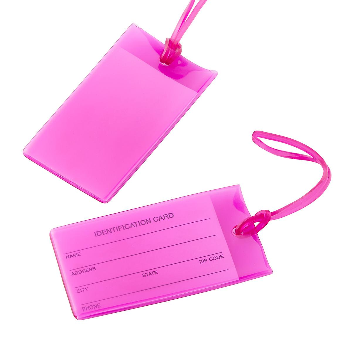 Conair Magenta Jelly ID Luggage Tags