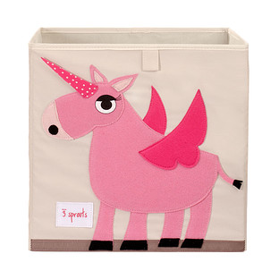 3 Sprouts Unicorn Toy Storage Cube
