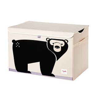 3 Sprouts Bear Toy Storage Box with Handles