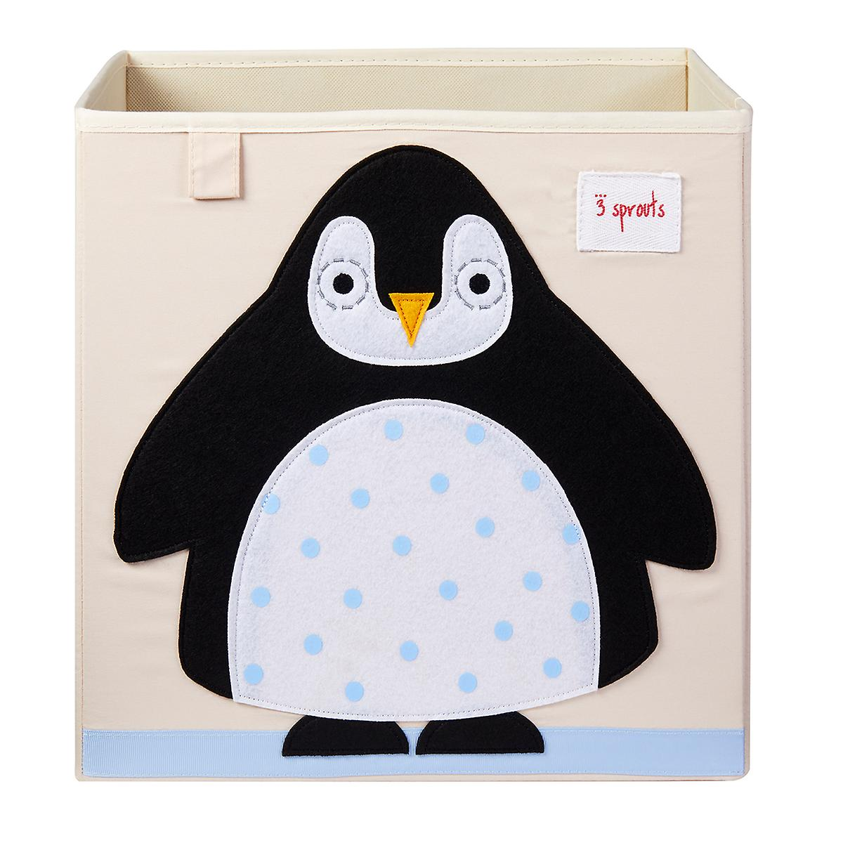 3 Sprouts Penguin Toy Storage Cube