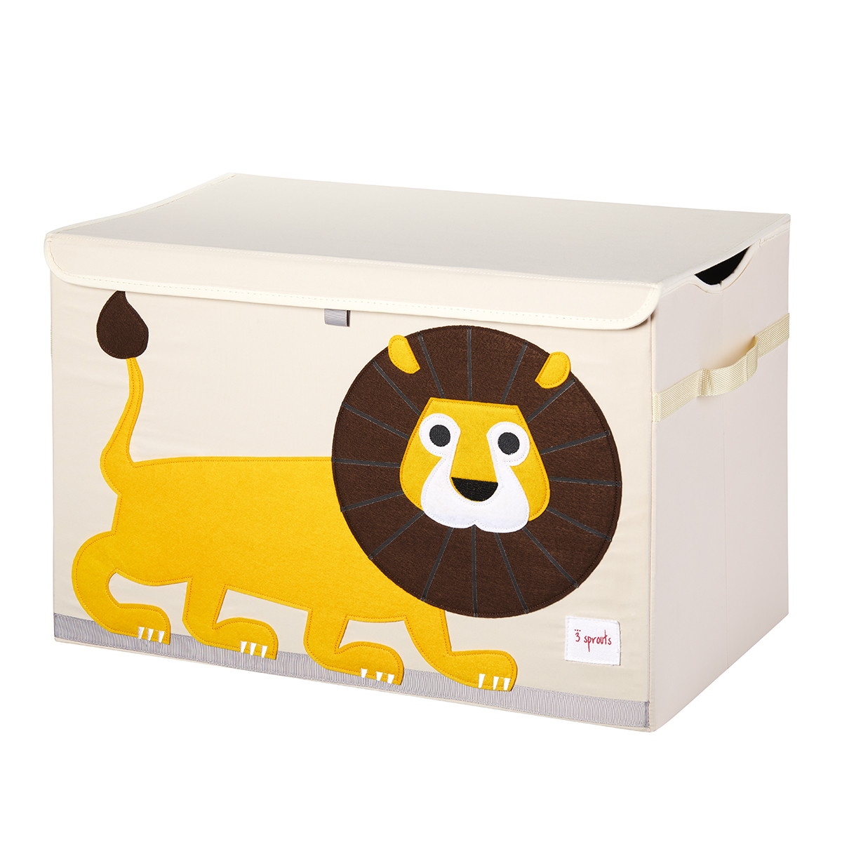 3 Sprouts Lion Toy Storage Box with Handles