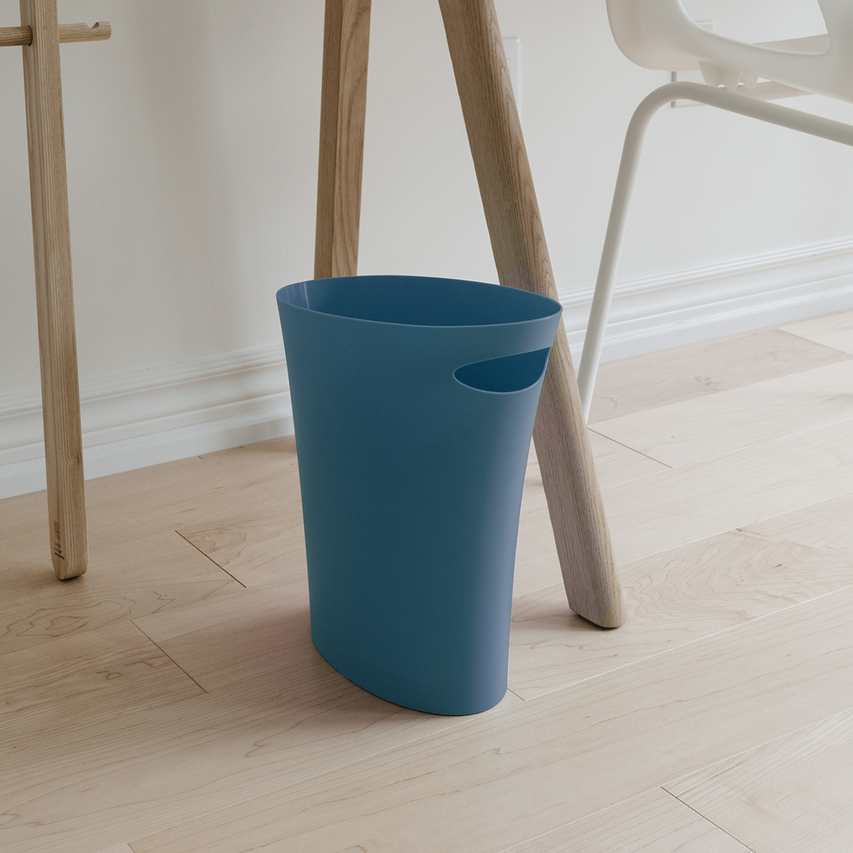 Umbra Teal Skinny Trash Can