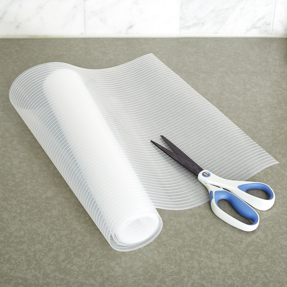 Clear Plast-O-Mat Ribbed Shelf Liner