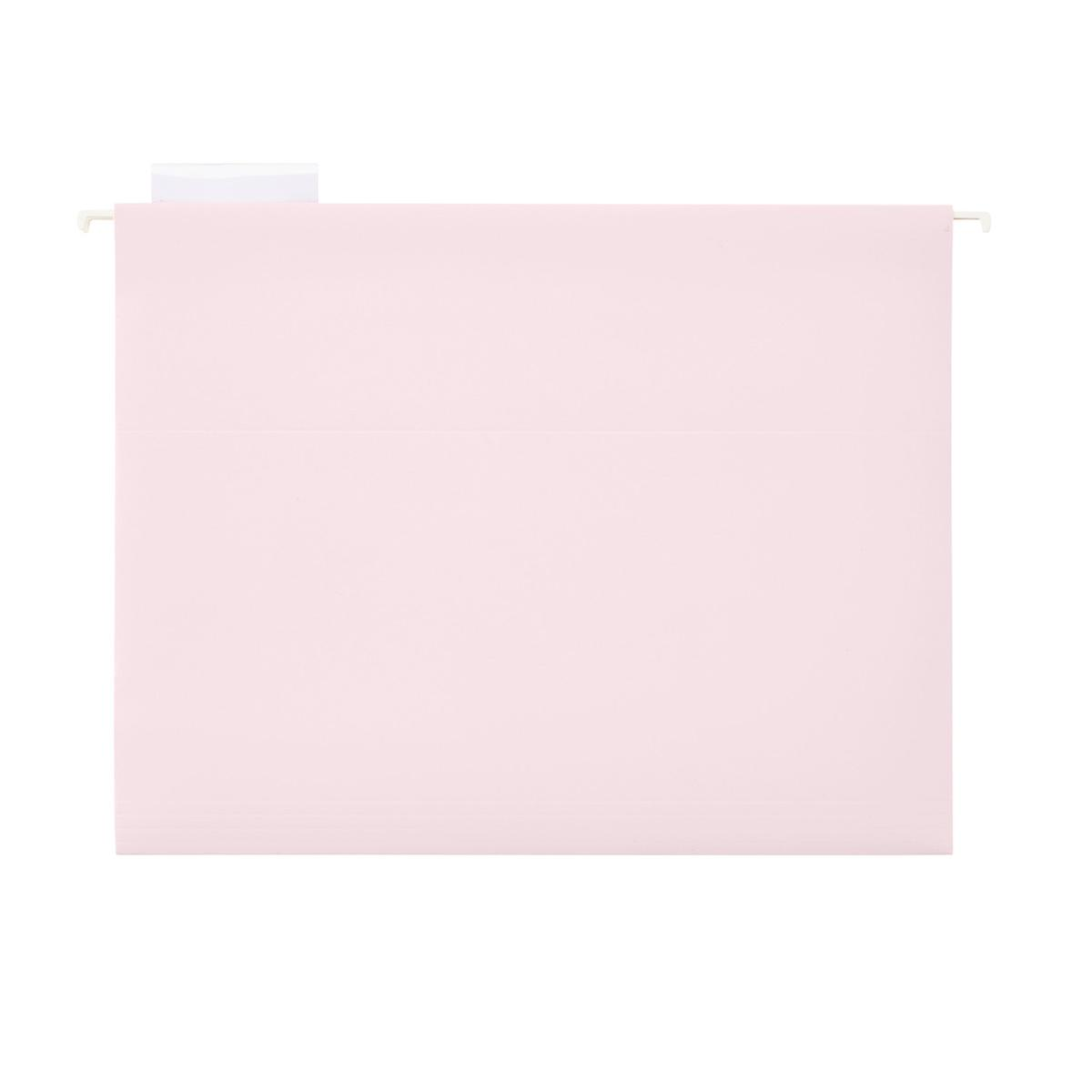 Blush Letter-Size Hanging File Folders