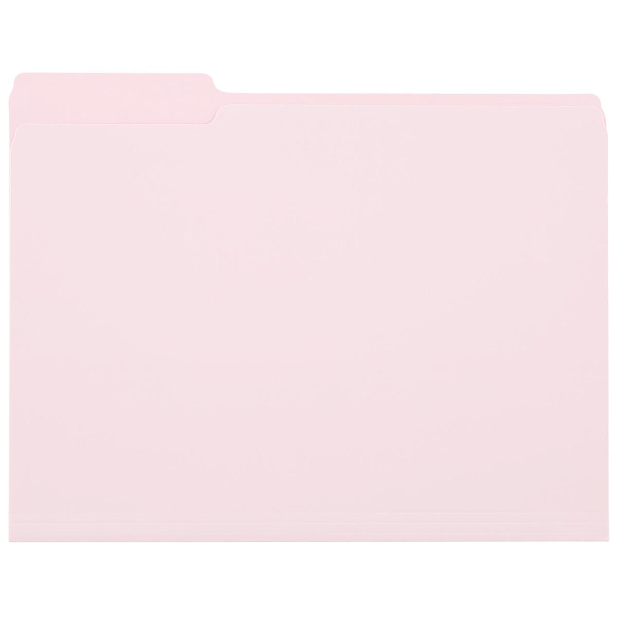 Blush Letter-Size Interior File Folders
