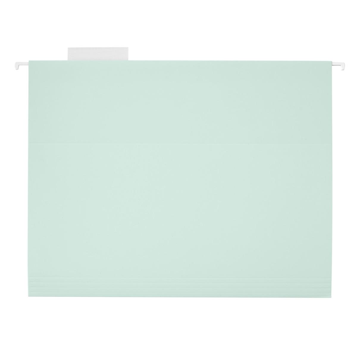 Aqua Mint Letter-Size Hanging File Folders
