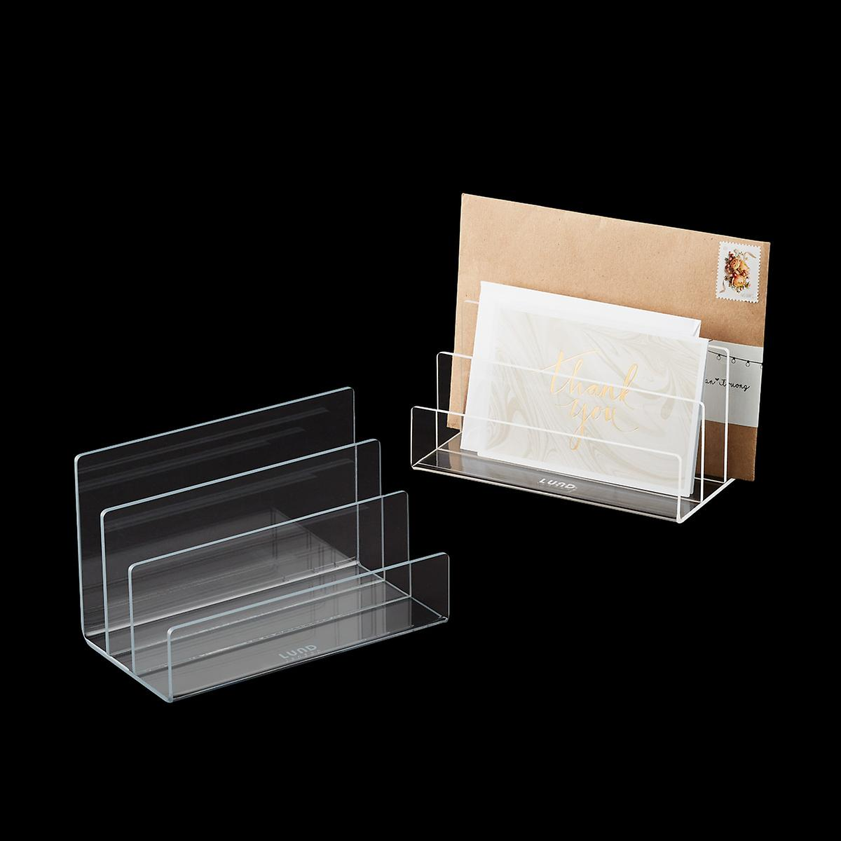 White Trim Mod Acrylic Mail Holder