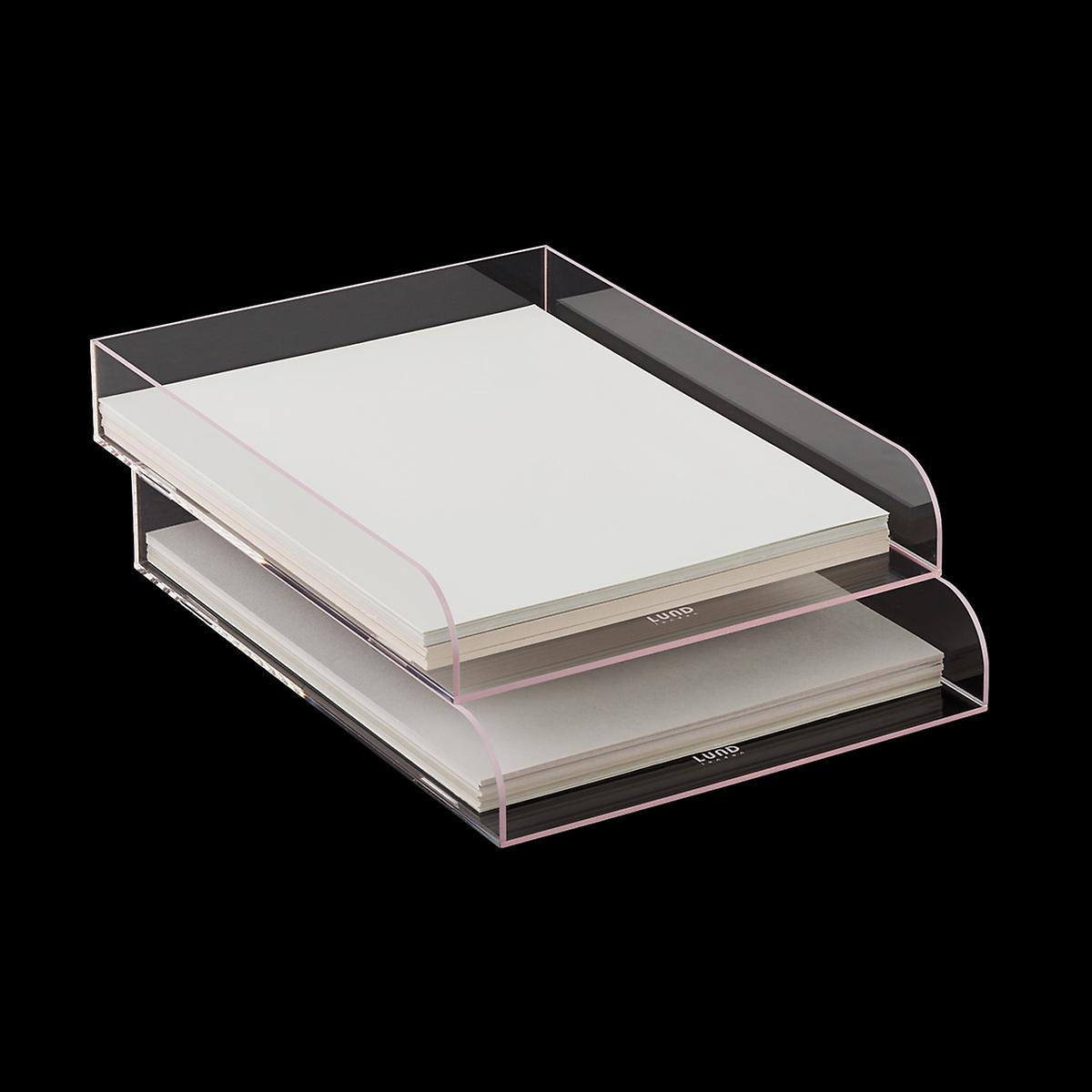 Blush Trim Mod Acrylic Stacking Letter Tray