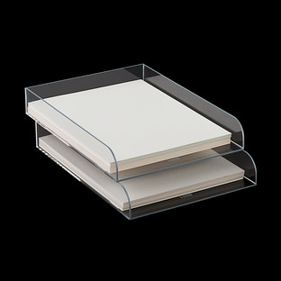 Grey Trim Mod Acrylic Stacking Letter Tray