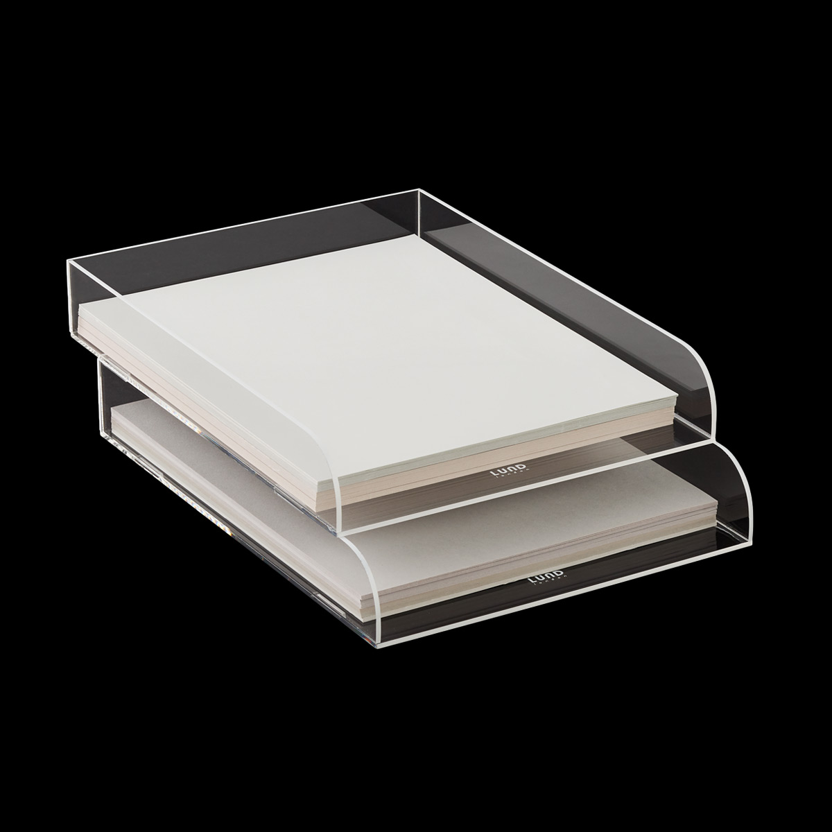 White Trim Mod Acrylic Stacking Letter Tray