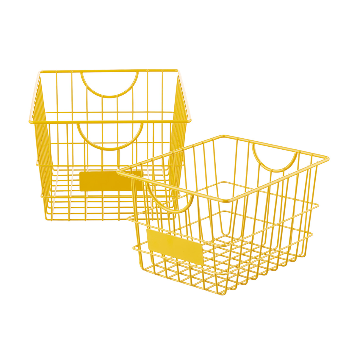 Goldenrod Wire Storage Baskets with Handles