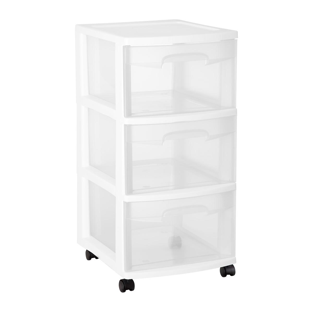 Sterilite 3-Drawer Chest with Wheels