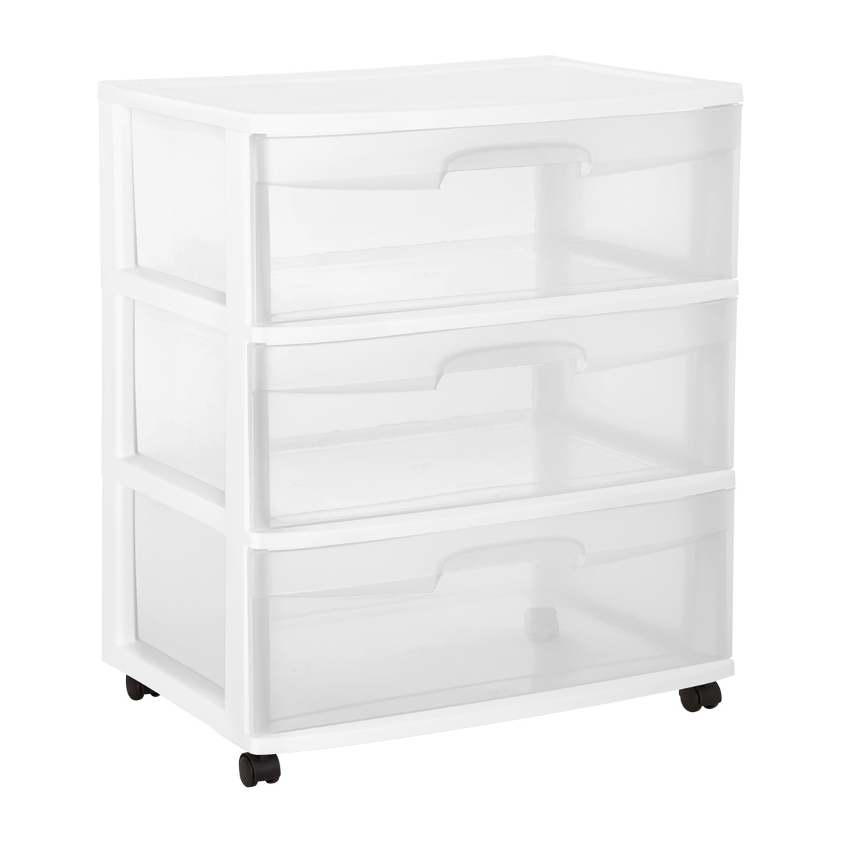 Sterilite Wide 3-Drawer Chest with Wheels