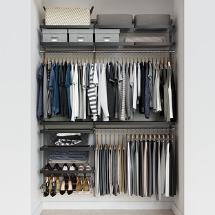 Elfa Décor 5' Grey & Platinum Reach-In Closet