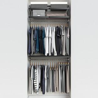 Elfa Décor 3' Platinum & Grey Reach-In Closet