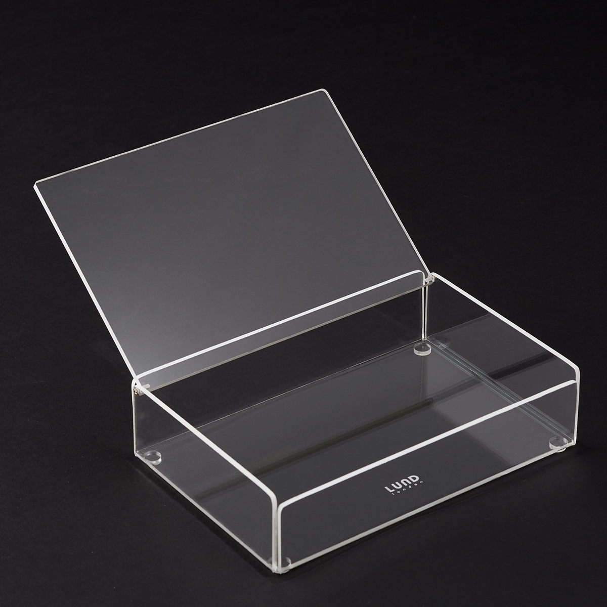 White Trim Mod Acrylic Lidded Box