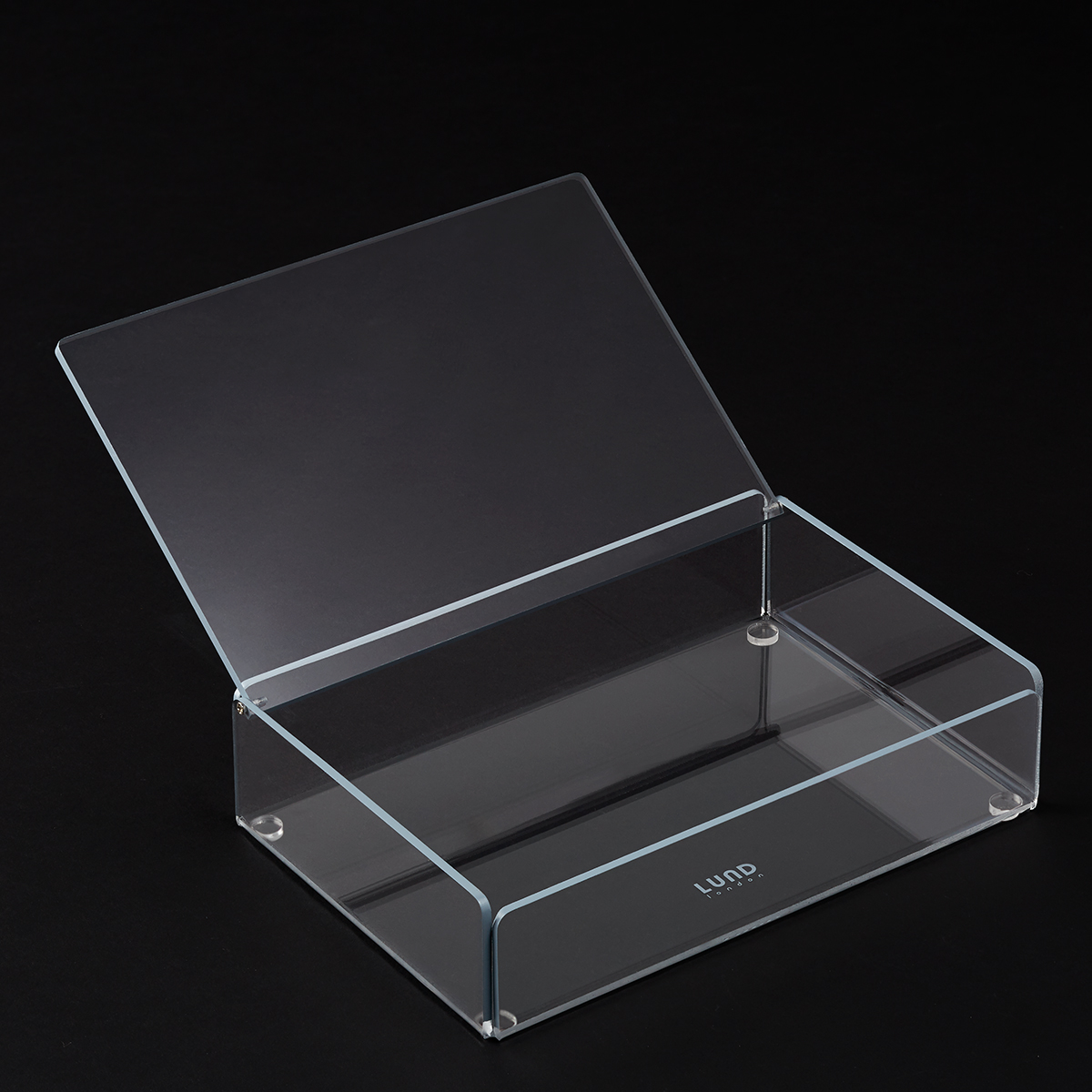 Grey Trim Mod Acrylic Lidded Box