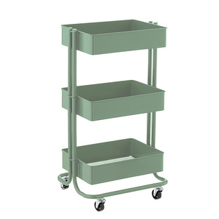 Sage Green 3-Tier Rolling Cart
