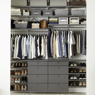 Elfa Décor 8' Grey & Platinum Reach-In Closet