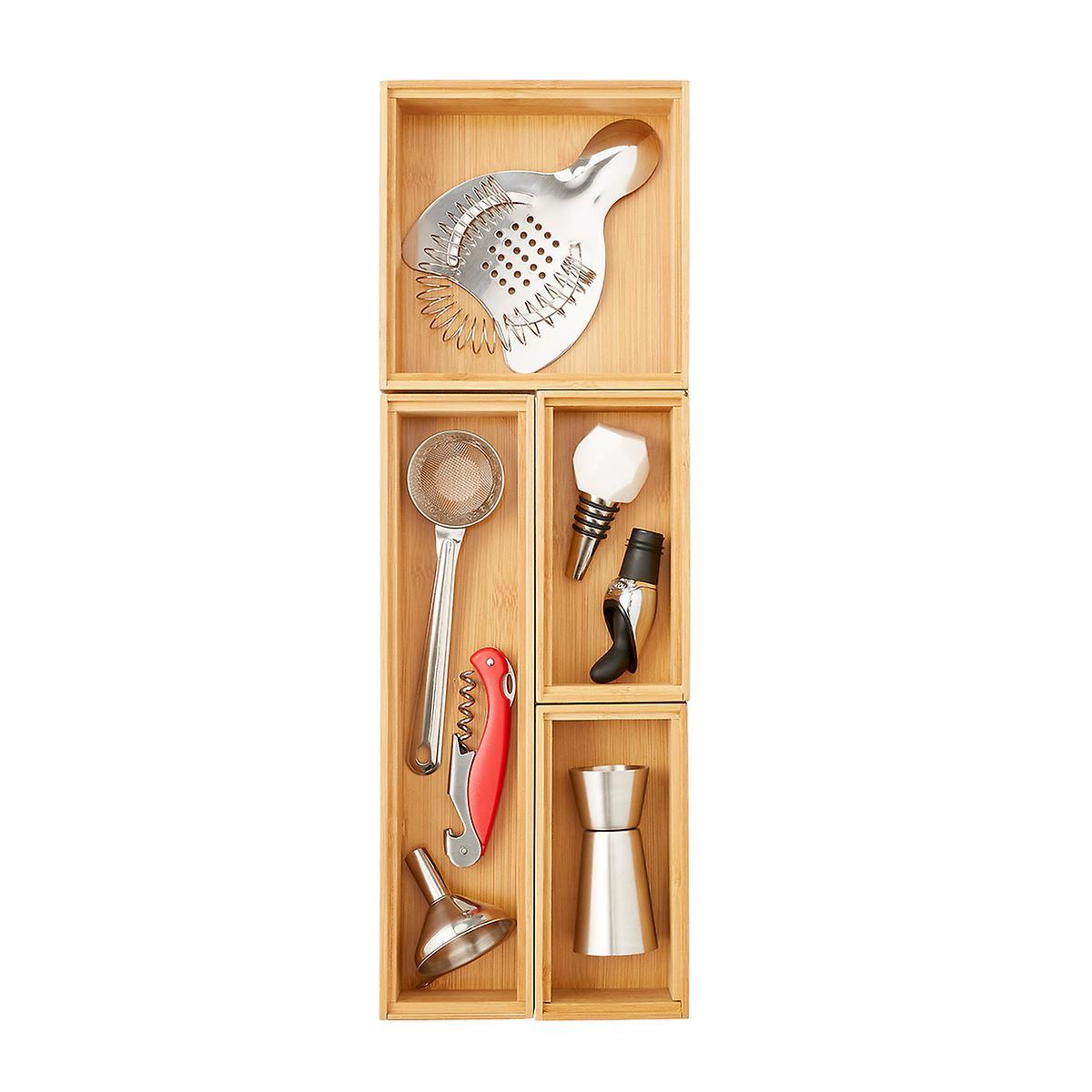 """6"""" x 18"""" Bamboo Drawer Organizer Starter Kit"""