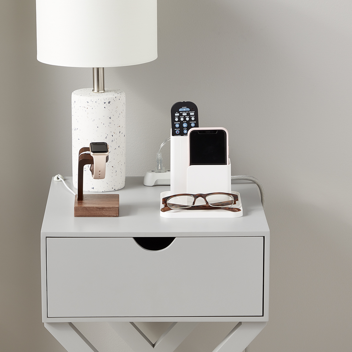 Nightstand Cord Control & Tech Starter Kit
