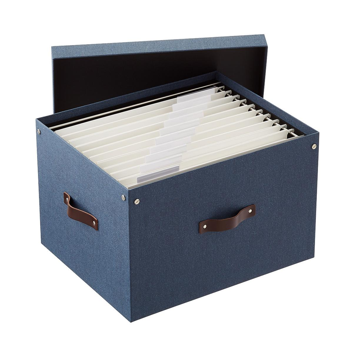 Bigso Navy Marten File Box and Legal-Size Folders Starter Kit
