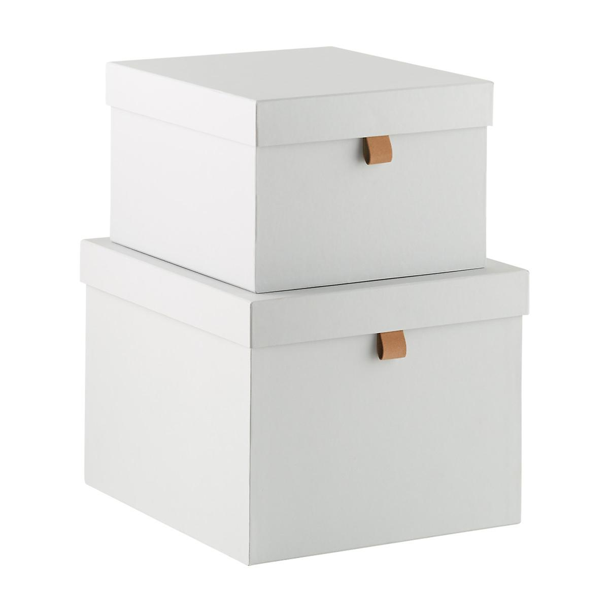 Bigso Light Grey Stockholm Storage Boxes