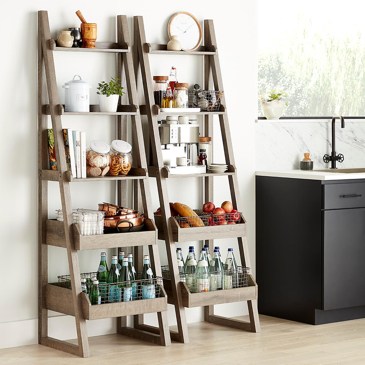 Rustic Driftwood Encore Narrow Bookshelf