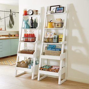 White Encore Narrow Bookshelf
