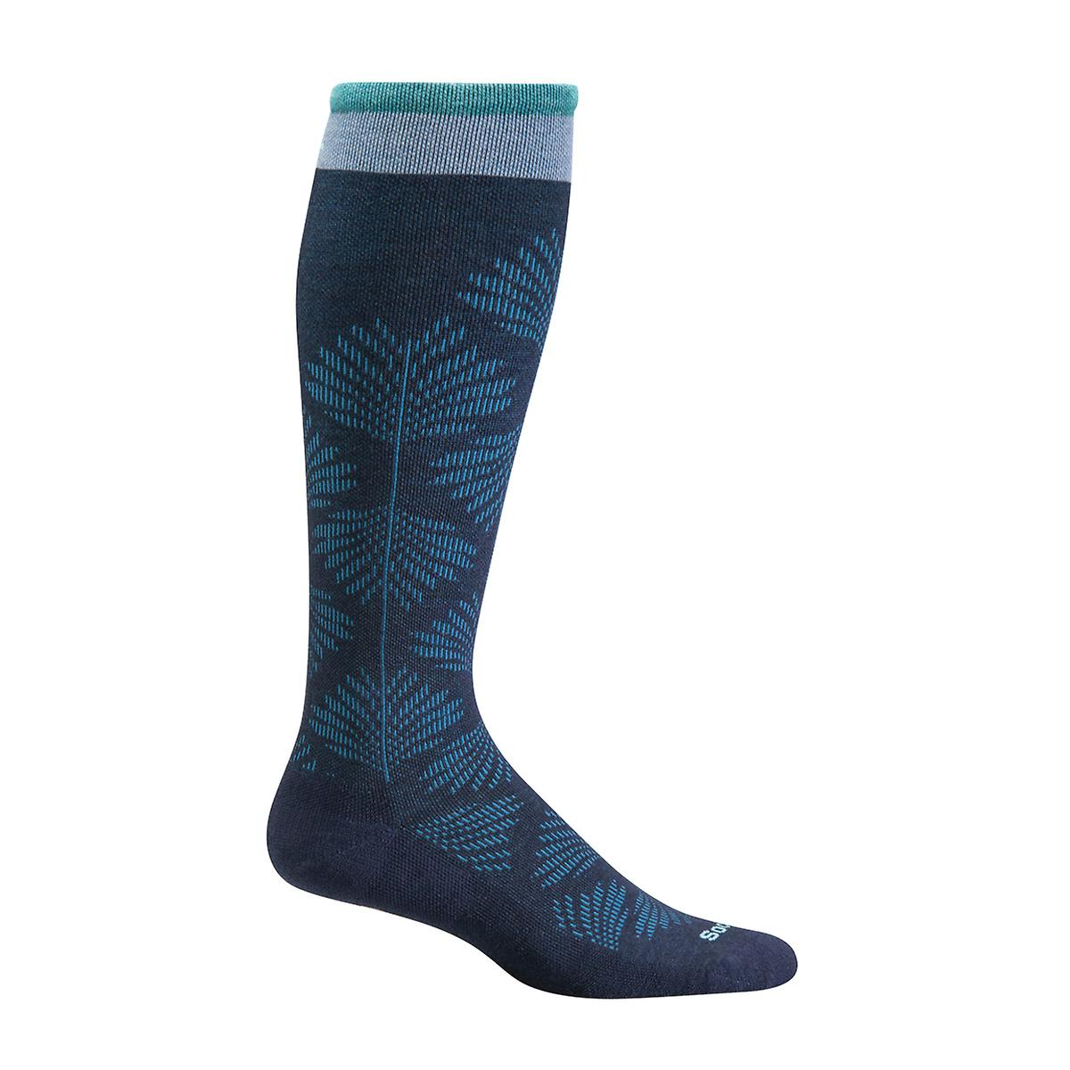 Floral Navy Compression Socks