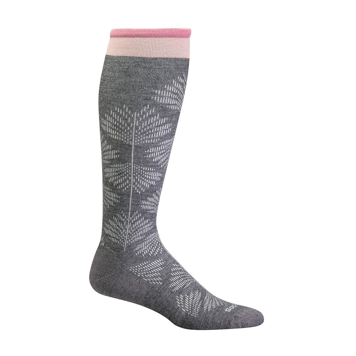 Floral Grey Compression Socks