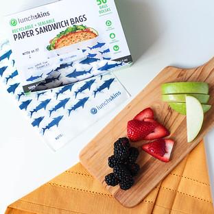 Lunchskins Shark Sealable Paper Sandwich Bags