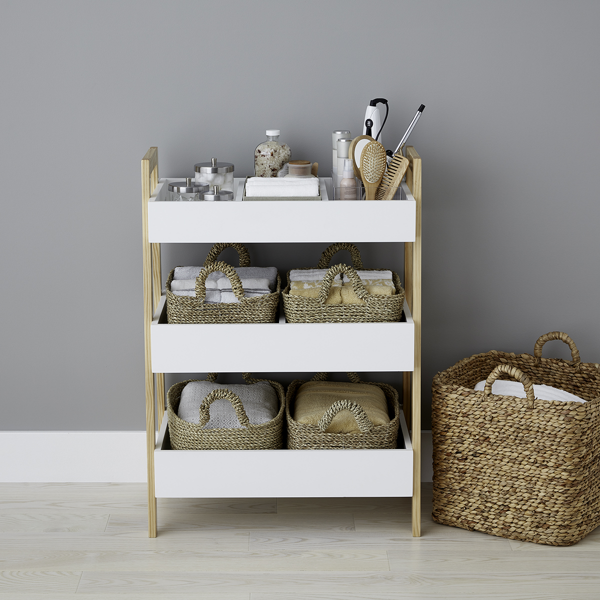 White Multi-Purpose 3-Tier Shelf